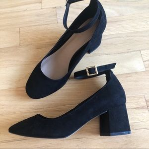 Block heels with ankle straps